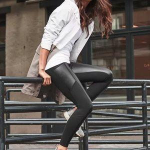 Athleta Faux Leather Leggings XS EUC